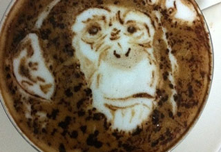 <p>I guess that's one way to make your Latte a little more fun!</p>