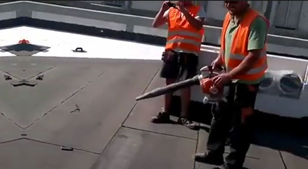 Just Using A Leaf Blower To Clean Off The Roof Video