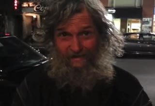 A homeless man in downtown Montreal tells his story.