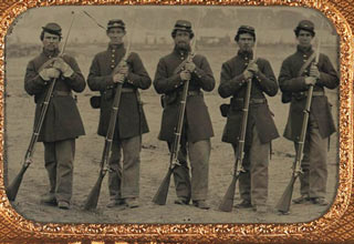 40 Union and 20 Confederate images that feature poignant moments, unusual weaponry and uniforms, and other special features like a musical instrument or card game. This is the real deal and an awesome gallery showing an amazing period in our history.