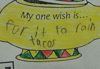 Some odd, interesting, and funny things kids write in school.