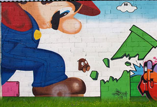 Some really creative and good stuff here.  A collection of street art with a little nostalgia thrown in the mix.