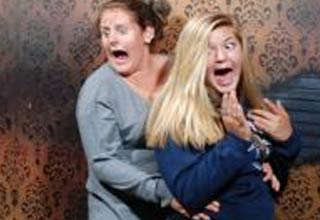 Reaction shots taken from the Nightmares Fear Factory haunted house in Canada.