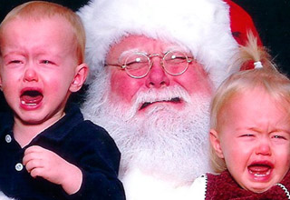 Every single picture of me as a kid on Santas lap is like this.