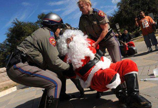 These not-so-nice Santas were all arrested while doing their best Jolly Saint Nick impersonations.