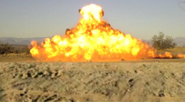 Detontation Cord Christmas Tree - Explosions Video