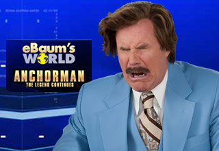 Submit an entry to win an Anchorman 2 Swag Pack, and a specially selected eBaum's World Swag Pack!