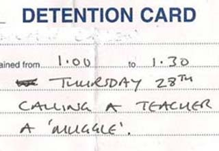 These are some of the best detention slips I've ever seen.