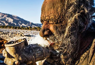 "80-year-old Haji believes that ""cleanliness brings him sickness."" That's why he hasn't bathed at all in the past 60 years. This makes him the world's dirtiest man. He lives in isolation in Dejgah village, in the Southern Iranian province of Fars..."
