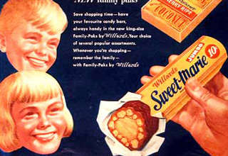 Vintage ads for many sweets we still enjoy today!