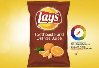 Lay's held a contest where people submit flavor ideas.  Then the trolls sh owed up...