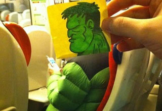 "Illustrator and Twitter user <a href=""https://twitter.com/OctoberJones"" target=""_blank"">@OctoberJones</a> has learned first hand how boring commuting by train can be. Thankfully, he's found a hilarious way to keep himself and the rest of us entertained on his daily commute."