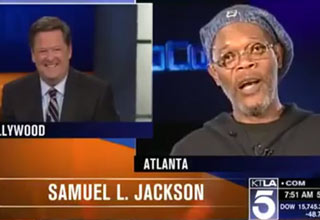 An entertainment reporter confuses Samuel L Jackson with Laurence Fishburne and Samuel L Jackson completely picks him apart on live television!
