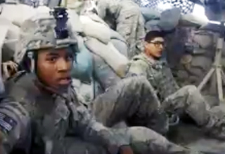 Astonishing headcam footage has been released showing the moment a 500lb bomb was apparently dropped on a unit of US soldiers fighting in Afghanistan by mistake.