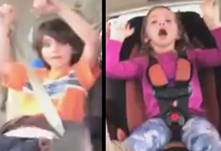 Woman filming her kids while driving gets in bad crash.