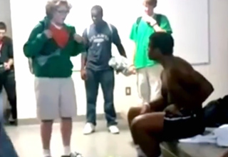 High School locker room rap battle with an unexpected twist...wait for the finish!