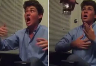 College Bro smokes Marijuana for the first time, freaks out, thinks he's completely frozen.