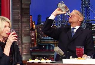 Martha Stewart supplies the deviled eggs, Dave supplies the Vodka!
