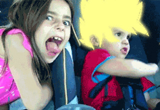 Gifs that capture people who have gone super saiyan.