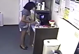 A woman is caught using breast milk to replace the milk she used from the fridge.  No one will notice she used the milk