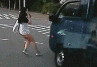 15 .GIFs of people who got pretty lucky.