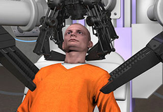 Lethal Injection is too barbaric, introducing the new more humane head-ripping off death machine.