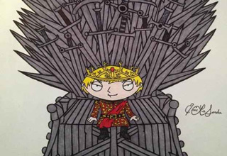 Fan art showing what Family Guy characters would play which Game of Thrones character. I would definitely watch this.
