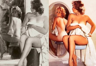 16 old fashion pin up girls and the women they were modeled after.