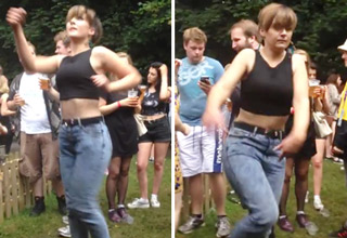 "An expressive dance done to 'Pump Up The Jam"" at Longitude Festival."