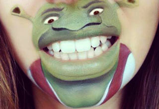 London based makeup artist, Laura Jenkinson, transforms her mouth into cartoon characters.