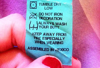 These laundry tags have something exciting to say...