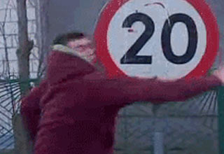 GIFs of people getting a taste of instant payback.