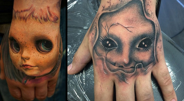 These people decided their flesh was best used as a canvas for only creepy and terrifying tattoo art.