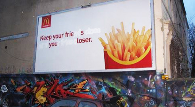 "Funny and creative examples of ""vandalism art""."