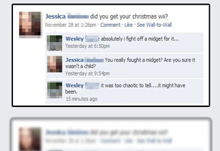 Funny examples of Christmas cheer gone wrong on Facebook.