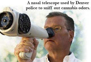 a nasal telescope used by denver police to sniff out cannabis odors.