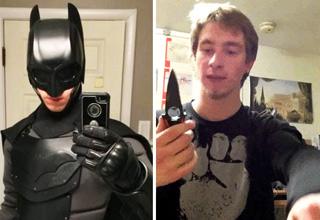 This guy took the time to design and test a real life version of the Batman suit.