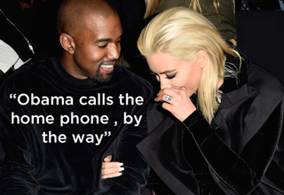 During a speech at Oxford, Kanye West claimed that Obama calls his home phone. President Obama set the record straight on Kimmel.