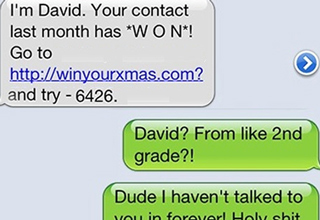 Guy gets a random spam text and decides to have some fun with it.