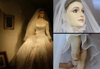 "The Pascualita is a bridal shop mannequin, hiding a dark urban legend just beneath ""the skin."""