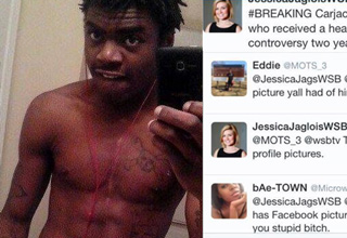 A reporter posted photos of the suspect that caused some outrage on twitter.