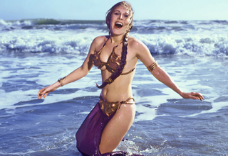Retro good times at the beach with princess Leia, Darth Vader, and other Star Wars icons that'll surely tickle your nostalgia bone.