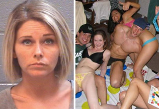 Rachel Lehnardt was arrested for throwing a very wild party for her underage daughter and friends.