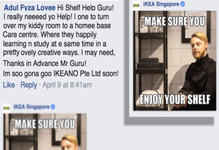 Ikea Singapore recently introduced the 'Shelf Help Guru' to its Facebook fans as hilarity ensues.