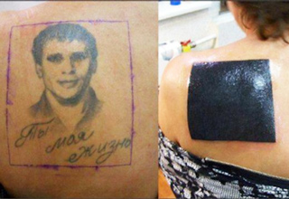 Examples of why you should never tattoo a lovers name on your body.