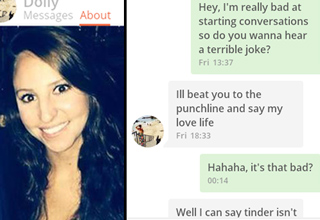 A tinder conversation you will have to read until the end.