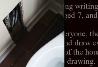 It wasn't before he asked his 6 year old daughter to draw her family, that he found out the house holds a sealed-in room.
