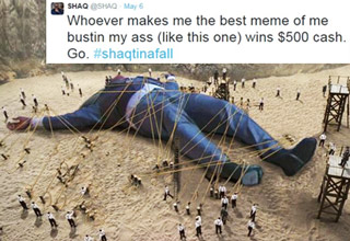 Shaquille O'Neal offered $500 for anyone that could make the best meme...