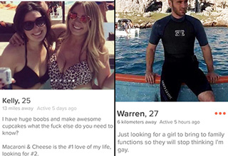 We have <a href=https://www.ebaumsworld.com/pictures/36-shameless-tinder-profiles/85676015/> Tinder</a> to thank for these gems.