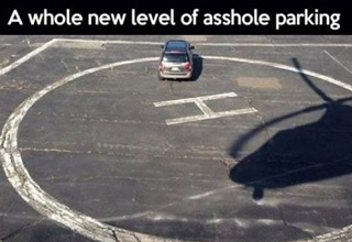 Horrible parking jobs that truly capture the driver's lack of concern for others.